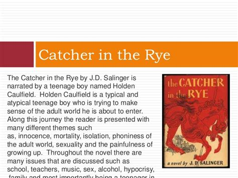theme of hypocrisy in catcher in the rye book club