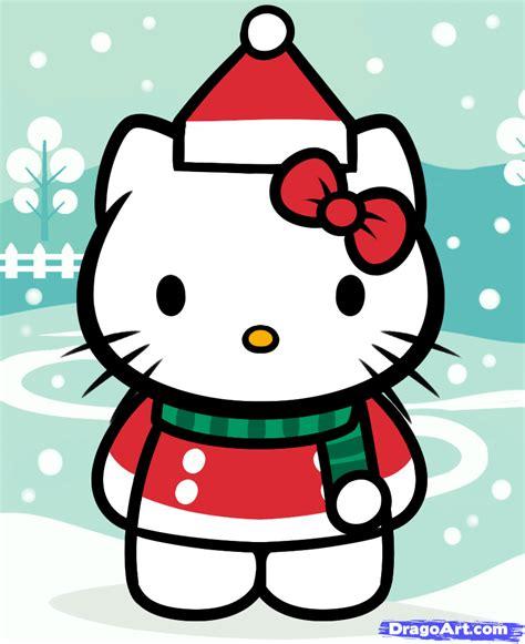 draw christmas  kitty step  step christmas stuff seasonal   drawing