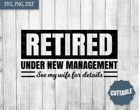 retired svg retired   management cut file