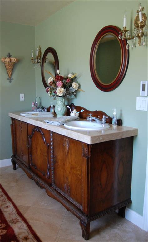 Sideboard Bathroom Vanity antique sideboard buffet turned into sink vanity bathroom other metro
