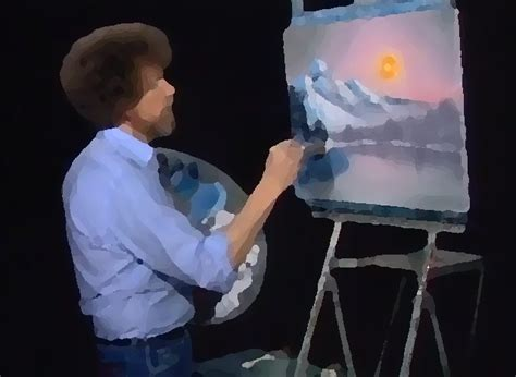 bob ross painting happy clouds painter bob ross remixed happy clouds