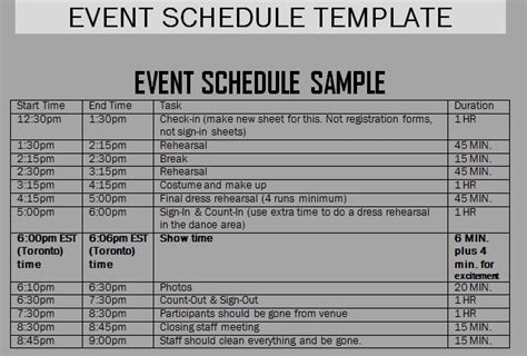 one day event schedule template event schedule templates word excel sles