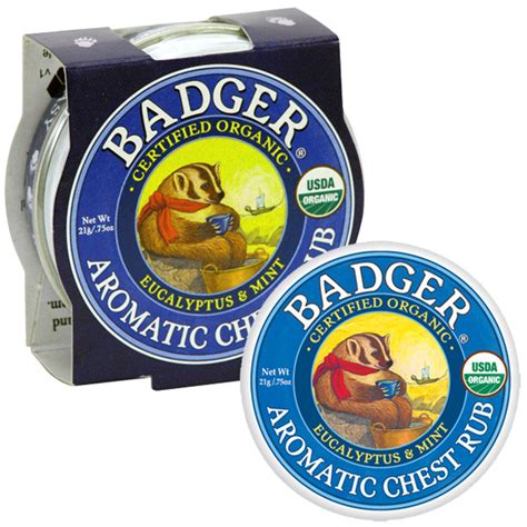 Badger Organic Nursing Balm 21g badger balm organic aromatic chest rub eucalyptus mint