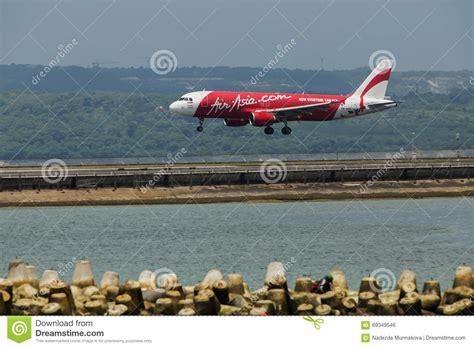 airasia ngurah rai airport air asia plane landed at ngurah rai international airport