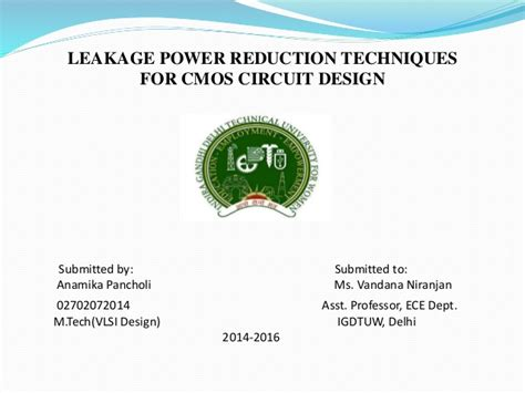 cmos layout design techniques low pw and leakage current techniques for cmos circuits