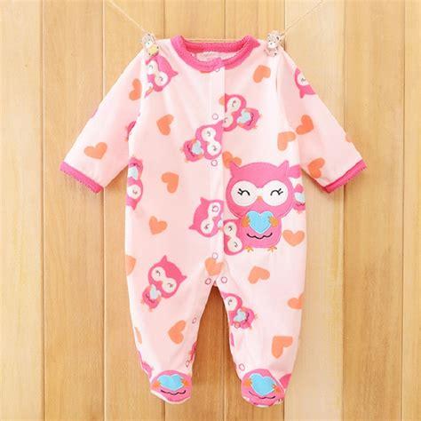 Owl Sleepsuit Jumper Baby owl print fleece newborn baby overalls romper macacao bebe baby rompers new born baby