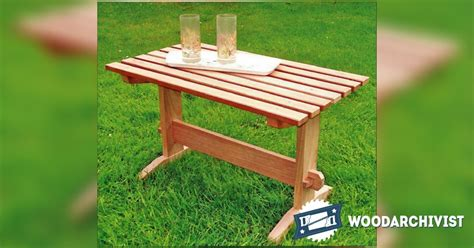 outdoor coffee table plans woodarchivist