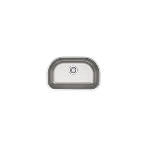 Sterling Kitchen Sink Sterling Cinch Undermount Stainless Steel 26 In Single Bowl Kitchen Sink 11722 Na The Home Depot