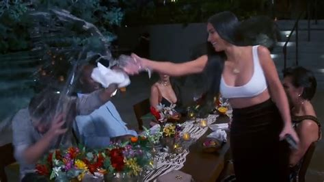 Barkin Throws A Glass Of Water In The Of Ex Husband 2 by Calls Disick A Loser Throws Water