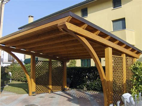 tettoie auto legno tettoia copertura auto in legno r02207