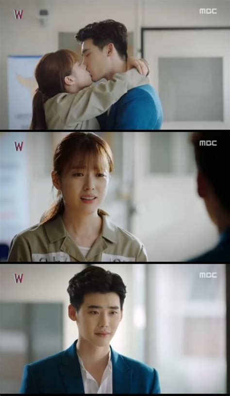 film romantis korea kiss spoiler quot w quot lee jong suk and han hyo joo kiss