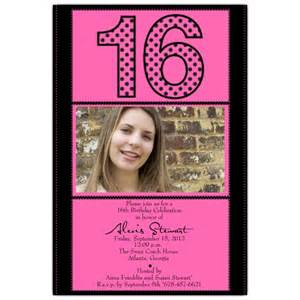 photo pink 16th birthday invitations paperstyle