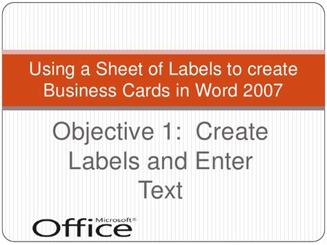 how to make business cards in word 2007 creating business cards with word 2007