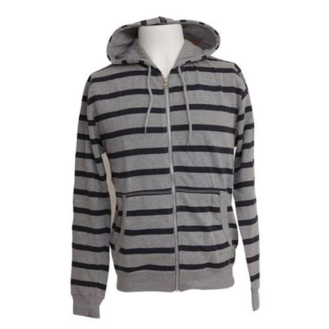 pattern zip up hoodie universal textiles mens stripe pattern hooded zip up