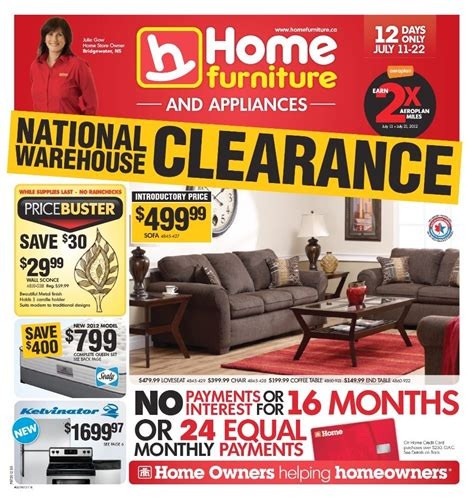 home furniture store flyer jul 11 to jul 22