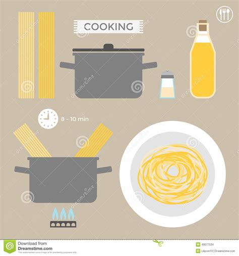 cooking infographics infographics cooking pasta stock vector image 49077534