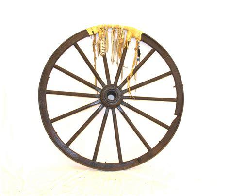 canal jean vintage decorative wagon wheel