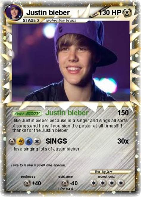 justin bieber cards cake ideas and designs
