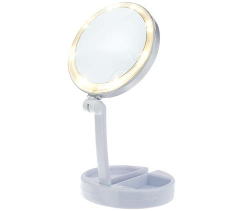 travel vanity with lights floxite 10x 1x lighted folding vanity travel mirror