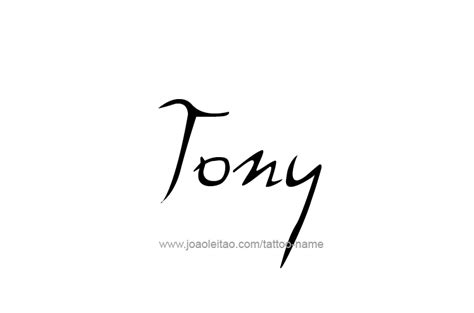 tattoo name tony tony name tattoo designs