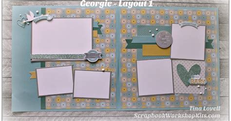 scrapbook layout guide scrapbooking kits georgie 6 page scrapbook kit sold out