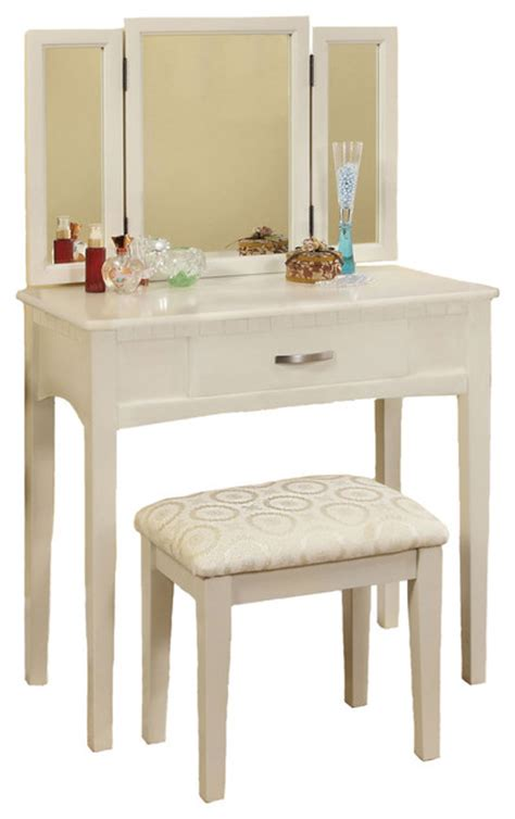 Vanity With Fold Up Mirror by 3 Tri Folding Mirror Vanity Set Make Up Table