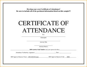 Certificate Of Attendance Templates by Certificate Of Attendance Template