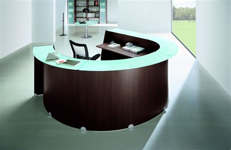 Glass Reception Desk Glass Reception Desk