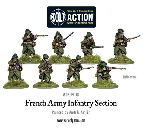 army sections french army infantry section warlord games