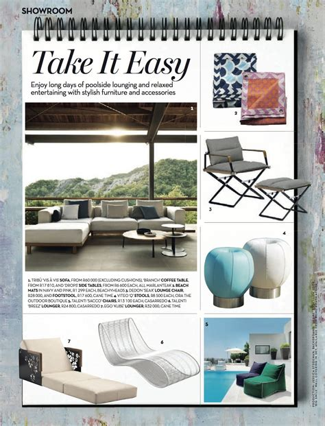 outdoor furniture magazine cond 233 nast house garden magazine features the vis 224 vis