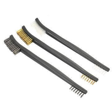 Sale 3 Pc Wire Brush Set Sikat Steel Copper 3pcs end cleaning brush set brass steel wire