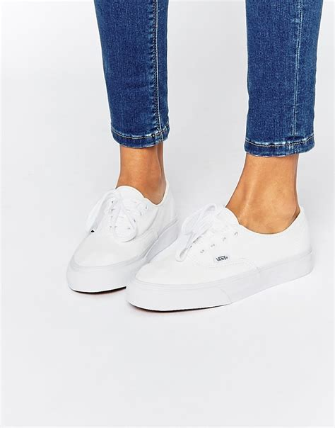zapatillas cuero blancas mujer zapatillas de deporte de cuero blancas de vans authentic