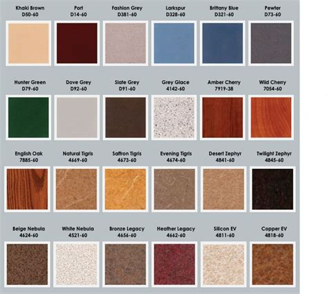 laminate colors plastic laminate colors