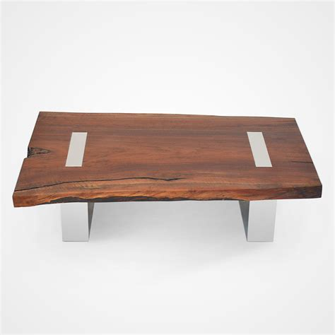 walnut coffee table legs single slab walnut coffee table polished aluminum legs