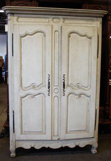 white armoire 18th c off white armoire