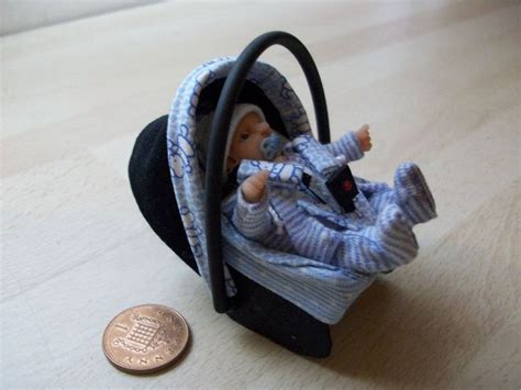 baby doll car seat carrier dolls house ooak sculpt baby boy car seat baby carrier
