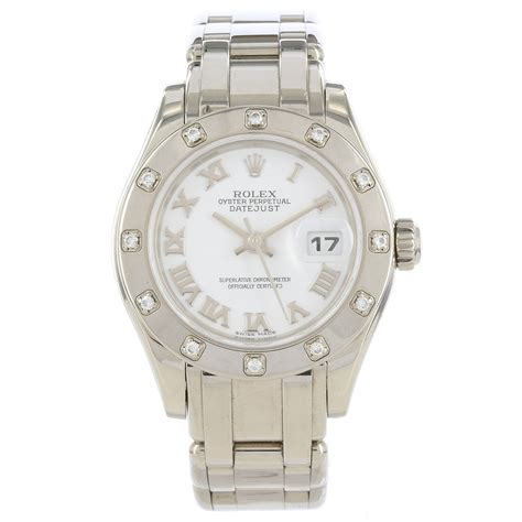 rolex datejust pearlmaster 80319 18k white gold