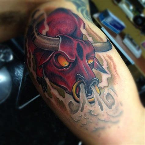 angry bull tattoo design angry bull design angry bull with yellow