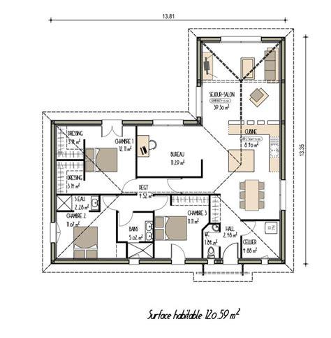 plan de maison contemporaine 4 chambres plan maison moderne de plain pied ancien projet n 176 18