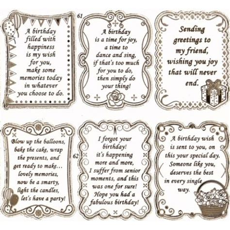 printable birthday card sayings birthday verses on pinterest birthday greetings
