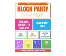 download this block party flyer template and other free