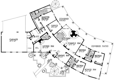 interesting floor plans plan w81409w in line sante fe style e architectural design