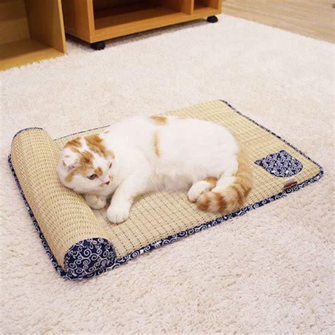 japanese tatami mat cat bed the green