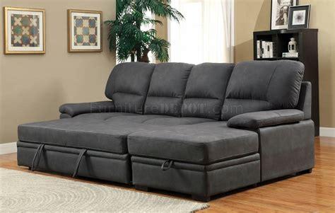 nubuck sofa alcester sectional sofa cm6908bk in graphite faux nubuck