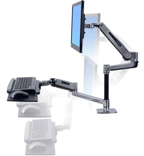 ergotron sit stand desk mount ergotron workfit lx sit stand desk mount system ergoport