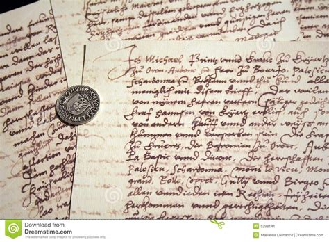 ancient writing paper ancient writings and seal stock image image of letter