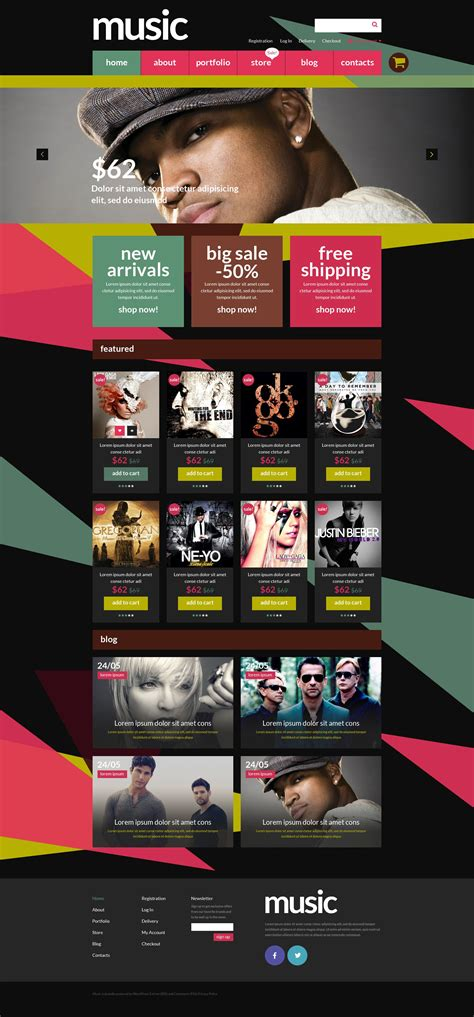 free wordpress themes music store best responsive and easy to use music themes 2016 free