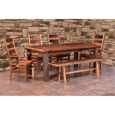 almanzo barnwood dining table square leg amish crafted