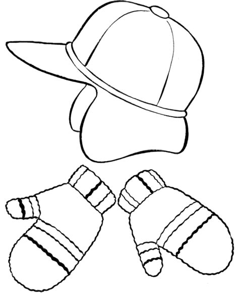 coloring pages of mittens and hats mittens coloring pages coloring home