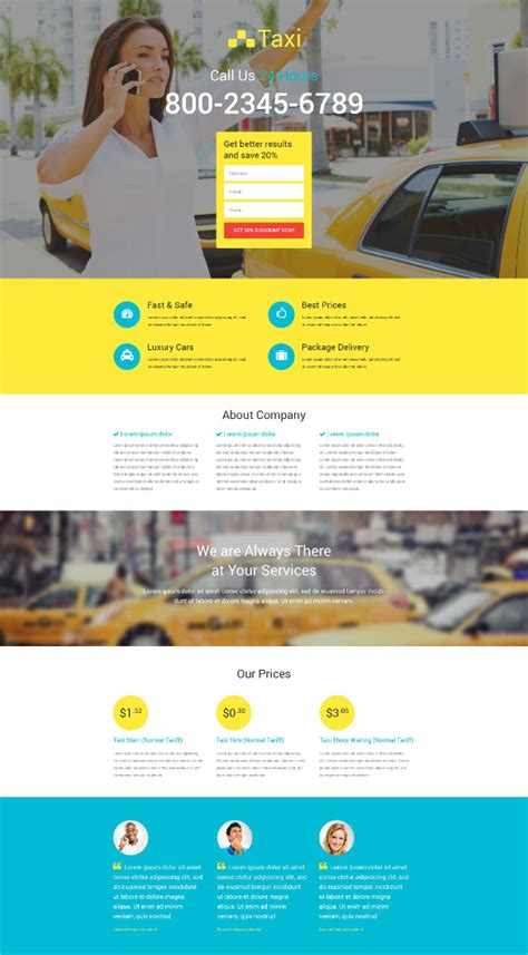 34 Transportation Website Themes Templates Free Premium Templates Taxi Website Template
